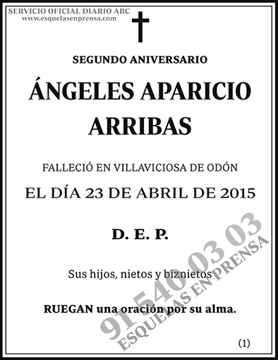 Ángeles Aparicio Arribas